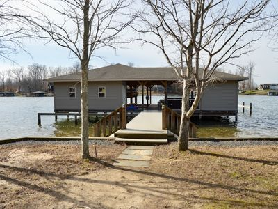 Photo for Laking it Easy Waterfront home on the private side of Lake Anna with great views