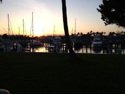Great Sunset From Our Patio Over The Marina.
