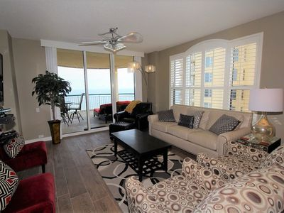Photo for Beach Colony East 9D- Beach Front unit with large terrace & amazing views!