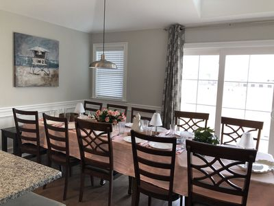 Can EASILY handle your next large family meal with provided folding table.