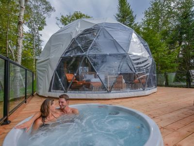 Photo for Luxury Dome 2 at Bel Air Tremblant: 5 mins to Village, pool, tennis, Spa, Gym, Jacuzzi