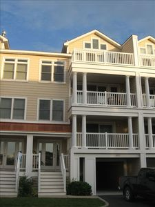 Exterior view - Private balconies on every level and two car garage with storage