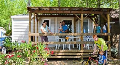 Photo for Camping Les Truffières *** - Nature Bungalow 3 rooms 4 people without bathrooms