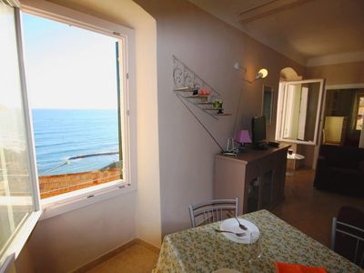 Photo for 700 meters walk from the beach, sea views, peace, relaxation, for family