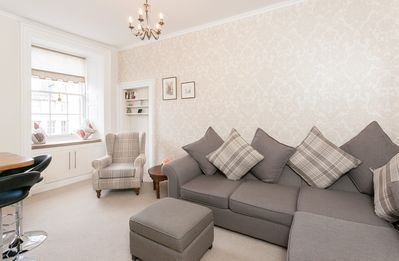 Bright Living Area with views of the Royal Mile