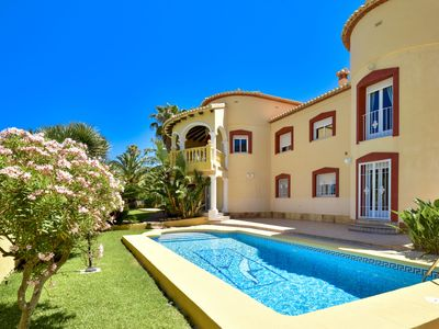 Photo for This 5-bedroom villa for up to 10 guests is located in Denia and has a private swimming pool, air-co