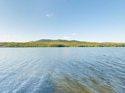 Photo for Lakefront cabin w/private dock, wood stove & beach access - dogs OK