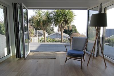 Living room to sunny deck