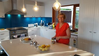 The lovely renovated  kitchen