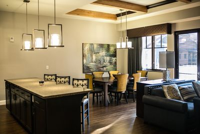 Presidential Kitchen Island and Dining Area