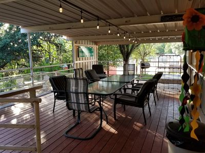 Outdoor  deck.