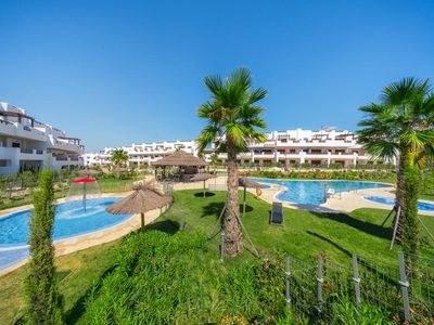 Photo for Large and nice apartment  with communal pool in San Juan de los Terreros, Andalusia, Spain for 7 persons