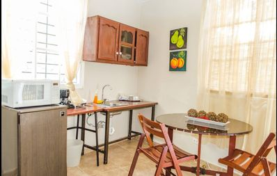 Kitchenette. See outdoor kitchen for stove.