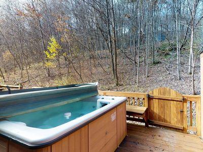 Photo for NEW LISTING! Ski-in/out mountain view home w/hot tub, fireplace & shared dock