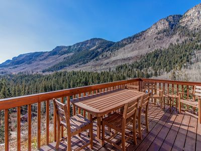 Photo for Mountain view cabin with two private decks, near Purgatory & Electra Lake!