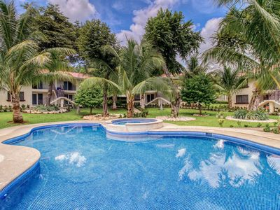 Photo for Secure, ground floor getaway w/ a shared pool & pool spa in Playa Del Coco