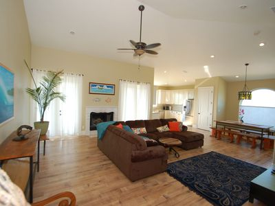 Photo for Tropical Home with Pool and Spa, Steps from the Beach and Also Pet Friendly