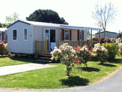 Photo for Mobile home 2CH new Lake Biscarosse camping reserve 4 *