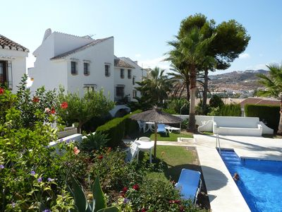 Photo for Beautiful apartment with private garden and sea views