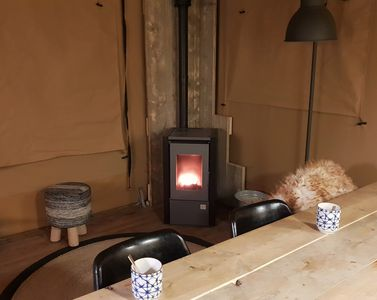 Photo for Enjoy camping in a Luxury Lodgetent in National Park Veluwezoom