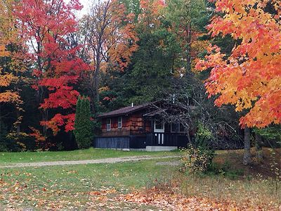 Photo for BLACK BEAR LODGE- Fall fun here!  Cozy cabin on the Au Sable River