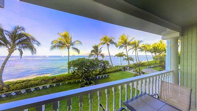Photo for Right on the beach, premier oceanview condo w/ best Lahaina location!