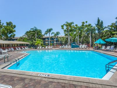 Photo for Waterfront condo w/ a shared pool, hot tub, tennis, basketball, & fitness room