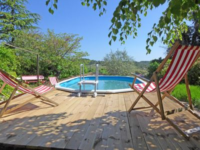 Photo for Quality cottage with privat pool in quiet hamlet near Minerva