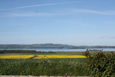 The view of Loch Leven from the Lodge garden in summer