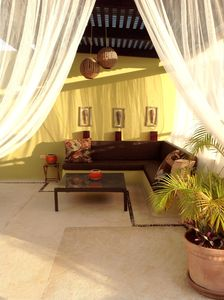 Private rooftop solarium (1000 sq') with a lot of seating Playa del Carmen