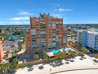 Photo for Stunning Gulf view condo w/shared heated pool just steps to the white sand!
