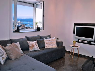 Photo for Apartment Aurora is extra modern with magnificent sea views. Garden with barbecue