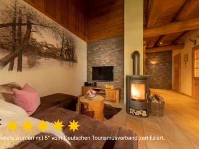 Photo for exclusive, cozy 5 * chalet with finnish sauna u. Fireplace, 2-4 pers.