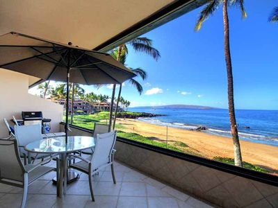 Photo for Fantastic Beach Front 2 Bedroom Condo - Starts @ $762.00/nt - Makena Surf B-205