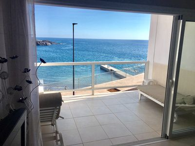 Photo for Overlooking the beach. Stunning views of the cliffs and Atlantic Ocean