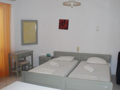 Photo for Economy Studio with swimming pool very near to the beach and the restaurants.
