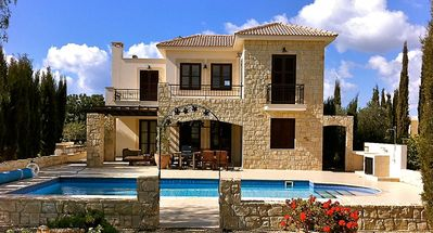 Photo for Villa Lysos (30), charming villa with private pool and golf course views