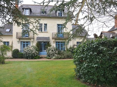 Photo for charming house in park, along the Loire near Saumur Villebernier
