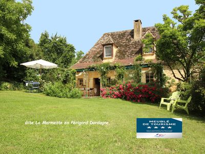 Photo for Dordogne Valley, 4 * holiday house, exclusive pool, 15kms from Bergerac