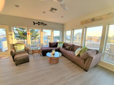 Photo for Steps to the beach! large bunk room, beach equip provided, spacious