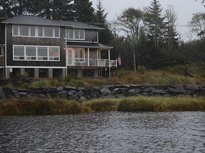 Photo for Unique waterfront Beach House with incredible view.