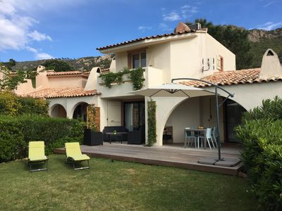 Photo for VILLA ON THE WATERFRONT PORTO VECCHIO WITH SWIMMING POOL AND TENNIS IN THE RESIDENCE
