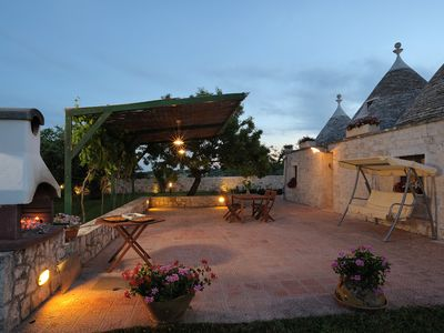 Photo for A charming rural retreat in trulli with private pool