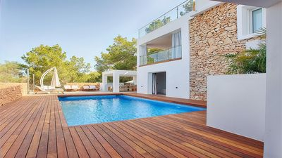 Photo for Villa Davina - Stylish Villa with Fantastic Panoramic Sea Views, Multiple Terraces, Private Pool 2 minutes drive from Cala Salada! - Free WiFi