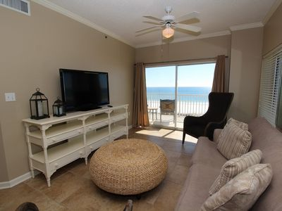 Photo for Tidewater 609-Beach Front Views From Terrace with Luxurious Interior!