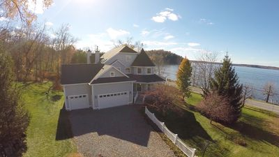 Photo for SARATOGA LAKE HOUSE,Sleep 20, PRIVATE BEACH,Perfect for Large Groups,LARGE ROOMS