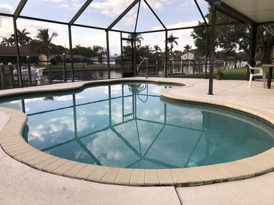 Photo for Deep water canal home /50 foot private boat slip, dock , HEATED POOL!!!!