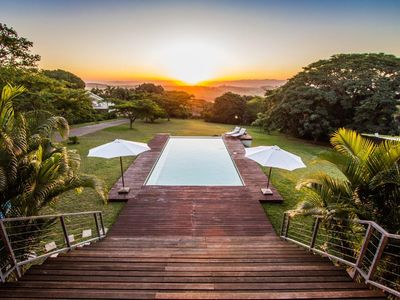 Photo for Large stunning villa near beach with rimflow swimming pool in Mtunzini