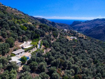 Photo for Old beautifully restored Oil factury, 3 buildings, private pool, on South Coast