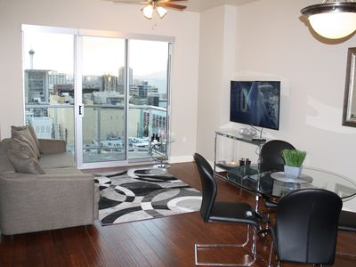 Photo for LUXURY Condo 12th Fl w/INCREDIBLE view of Strip & Fremont St Downtown Las Vegas!